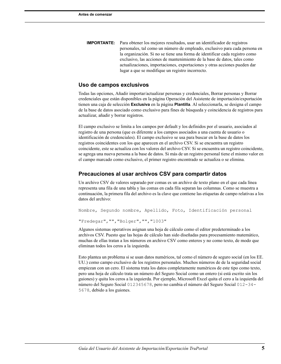 Uso de campos exclusivos | Interlogix TruPortal User Guide Manual ...