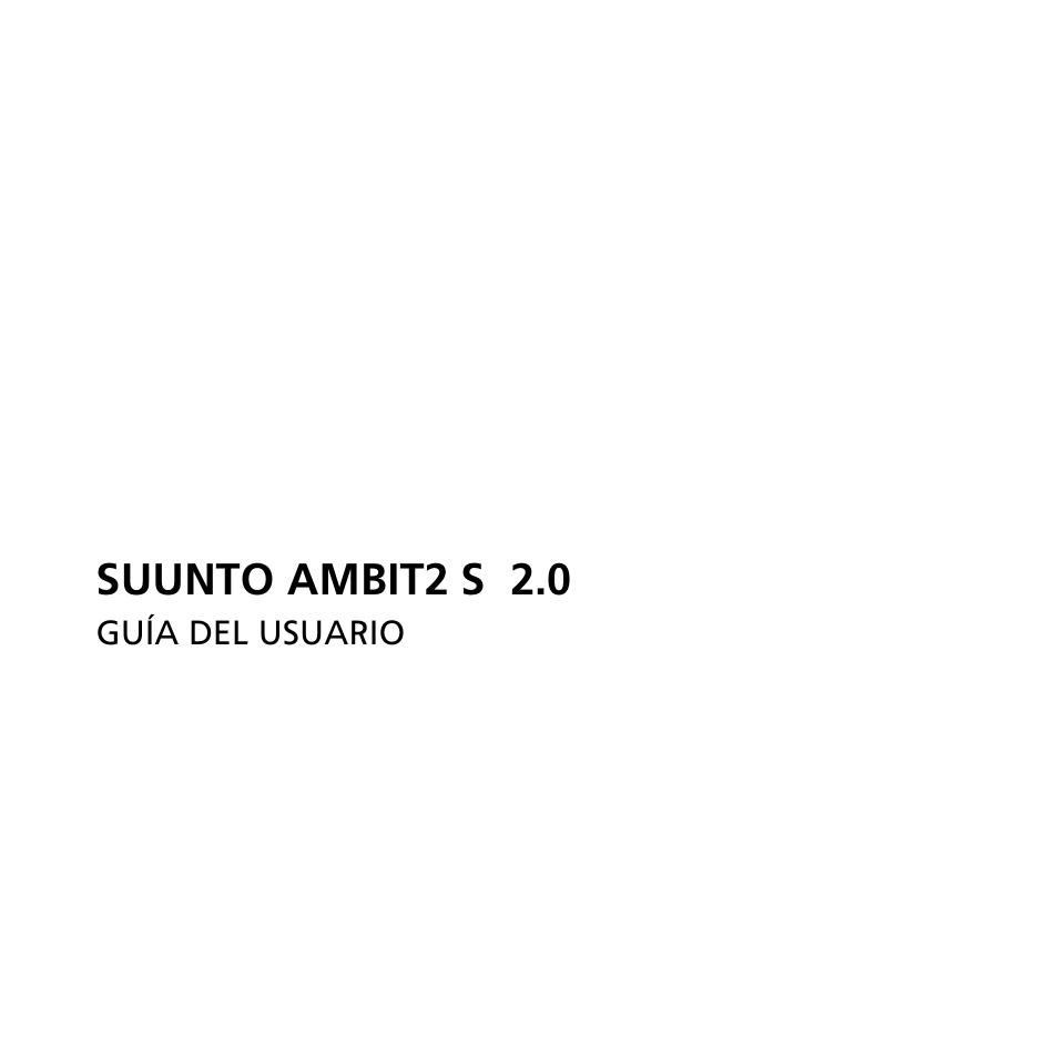 Suunto Ambit2 S User Guide Manual Del Usuario Pginas 138