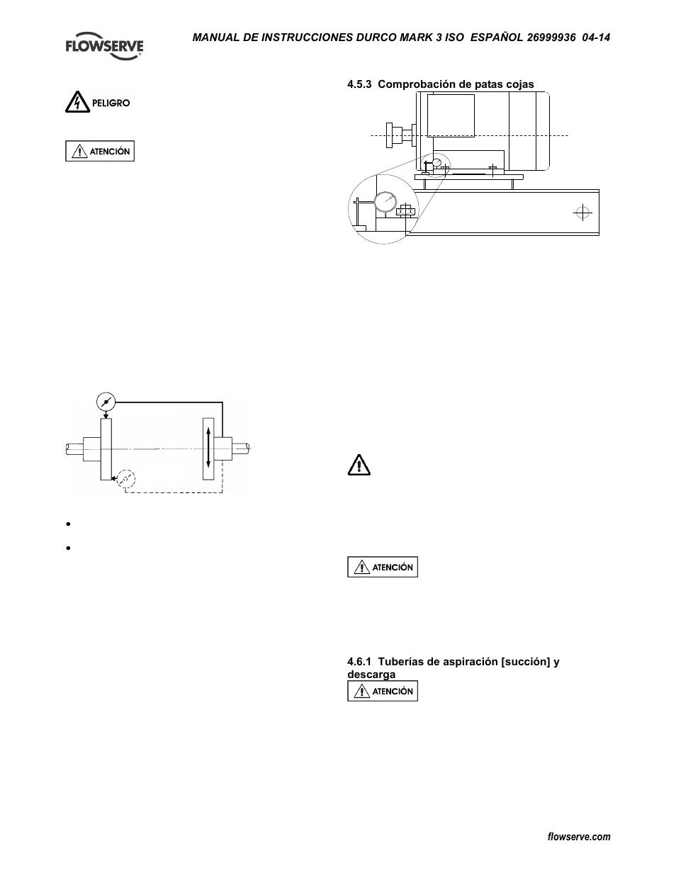 6 tuberías | Flowserve Mark 3 ISO Durco Manual del usuario | Página ...
