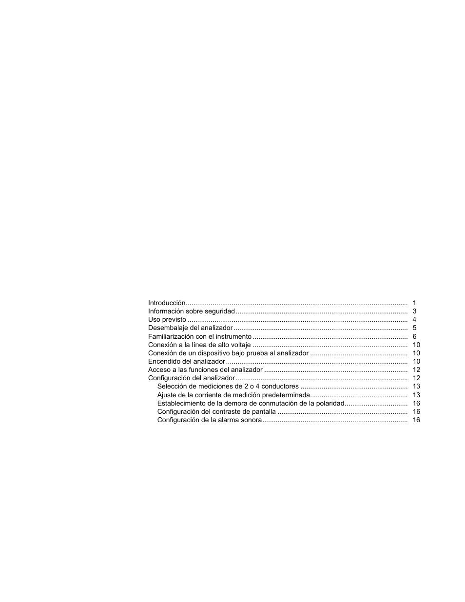 Tabla de materias | Fluke Biomedical ESA620 Manual del