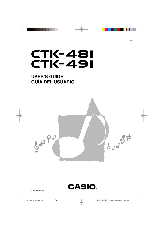 casio ctk 481 manual del usuario p u00e1ginas 50 tambi u00e9n para ctk 491  ctk 451  ctk 471  ctk