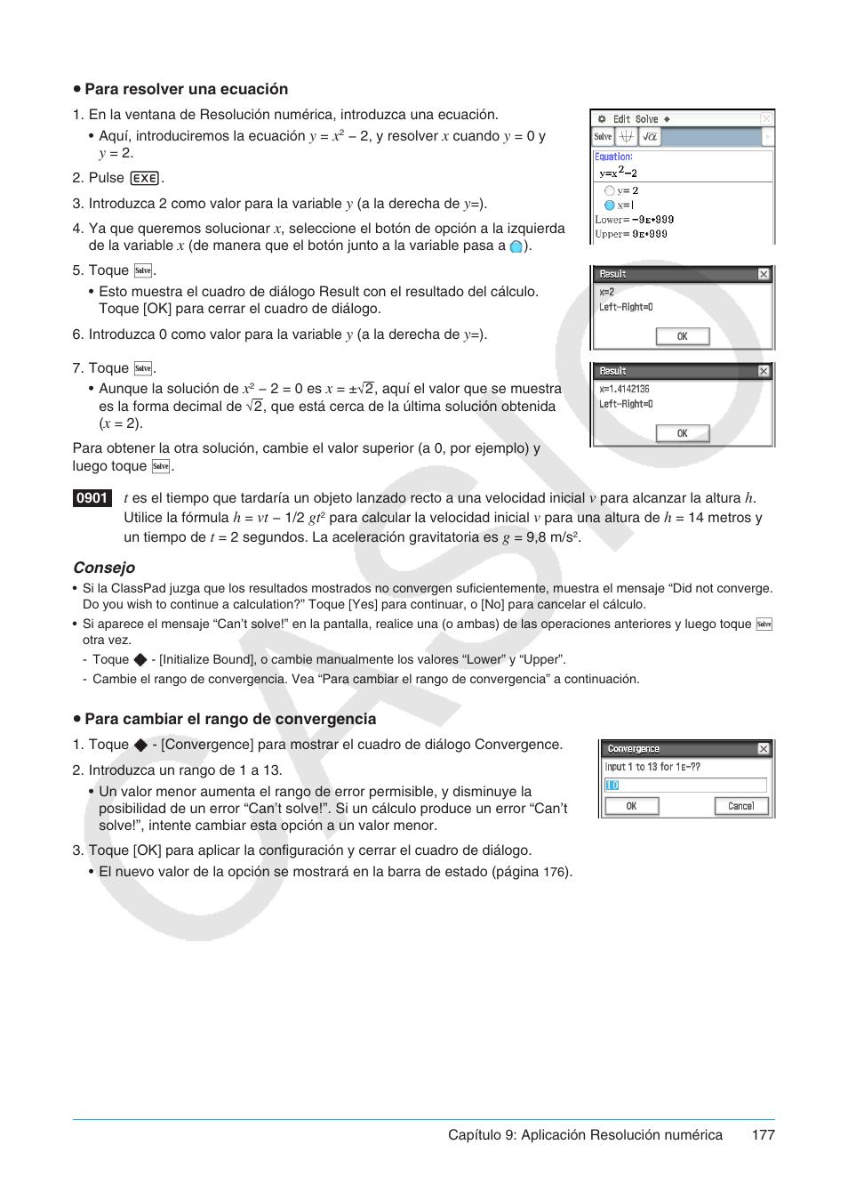 Casio ClassPad fx-CP400 Manual del usuario | Página 177 / 287