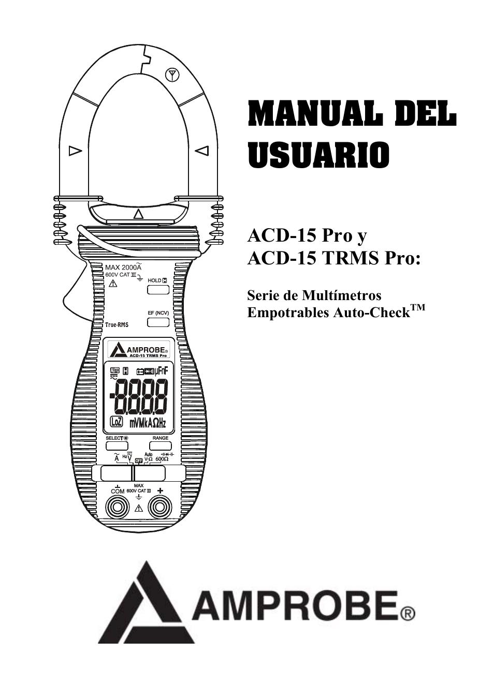 amprobe acd 15 pro multimeters manual del usuario p u00e1ginas 16 tambi u00e9n para acd 15 trms pro