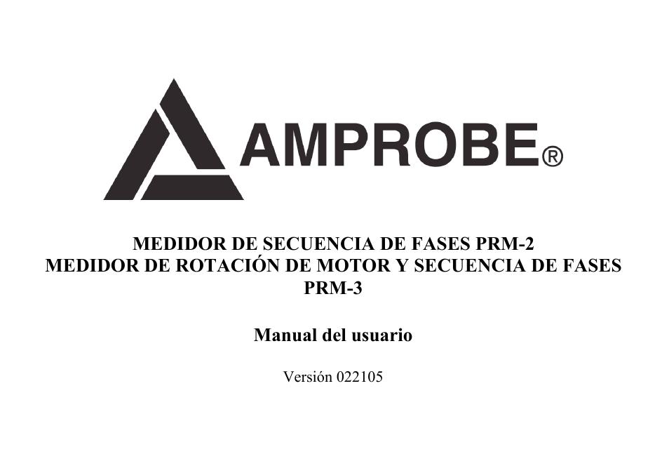 amprobe prm 2 phase sequence manual del usuario p u00e1ginas 18 tambi u00e9n para prm 3 phase sequence
