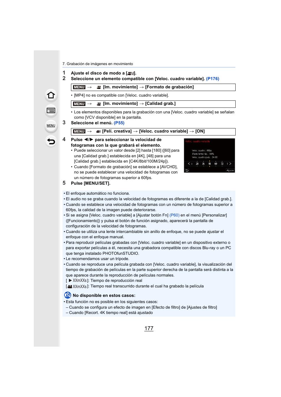 Panasonic Lumix GH5 Manual del usuario | Página 177 / 347